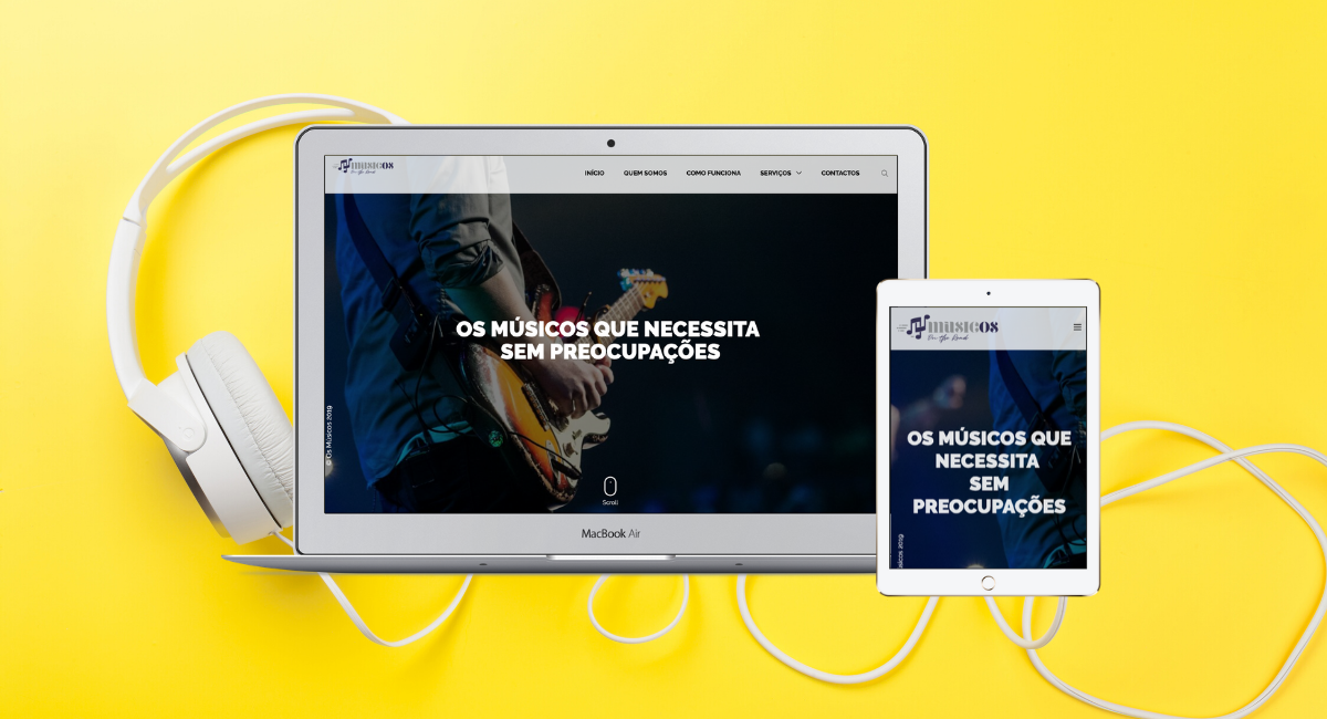 Website Músicos On The Road