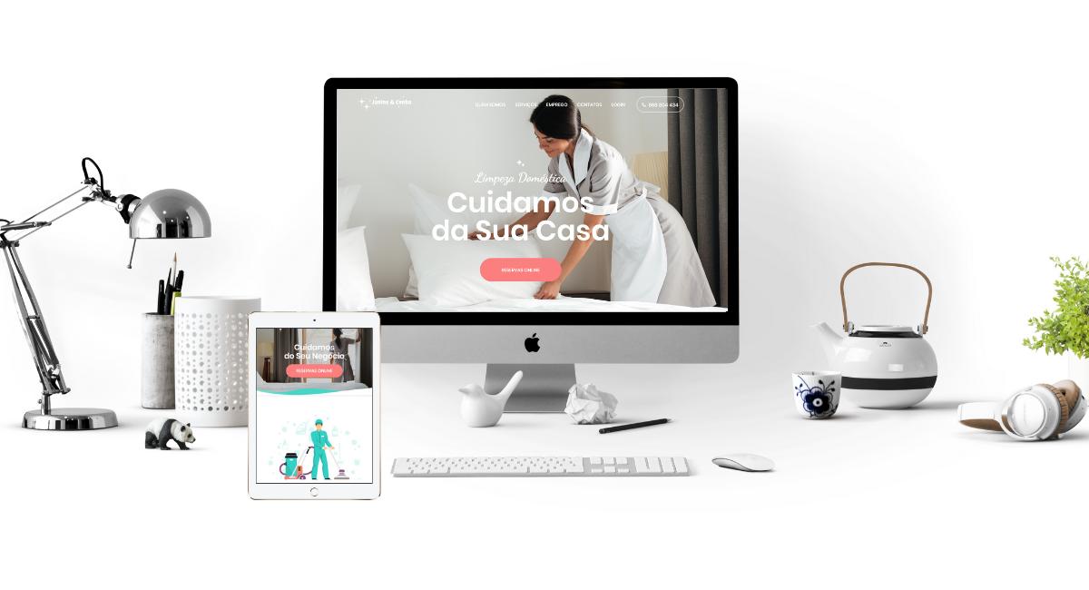Website Lavandaria Janine & Cunha
